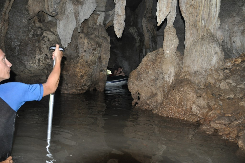 Exploring the caves of Langkawi with Gordon and Kerstin