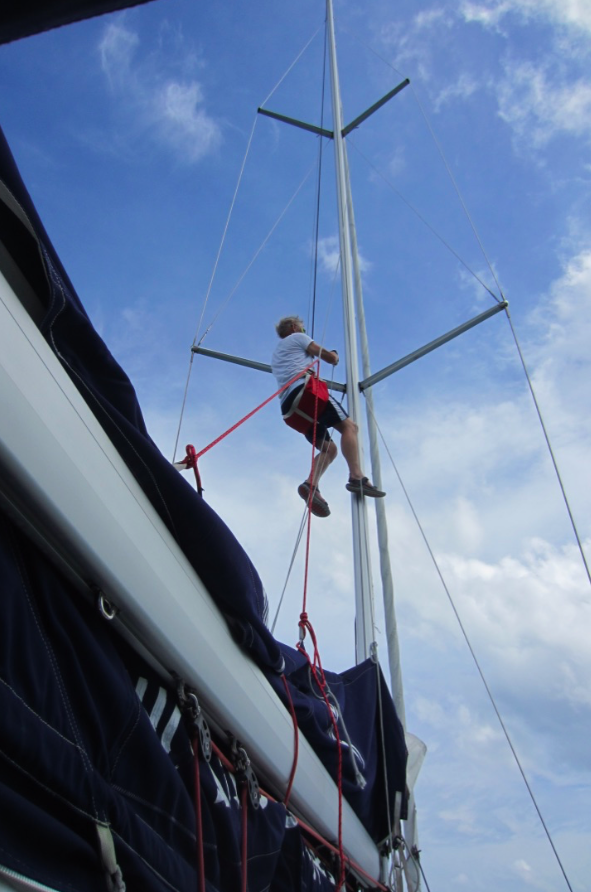Climbing up the mast 2nd time